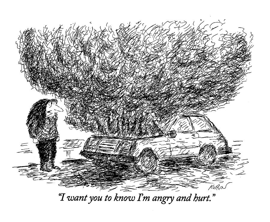 I Want You To Know Im Angry And Hurt Drawing by Edward Koren