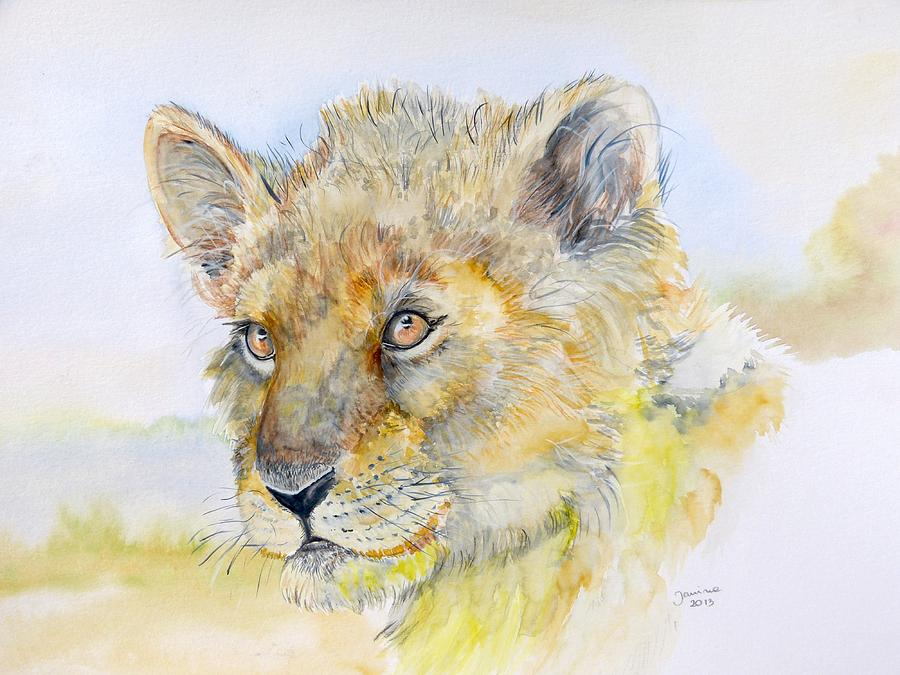 Animals Painting - I Will Be The Lion King by Janina  Suuronen