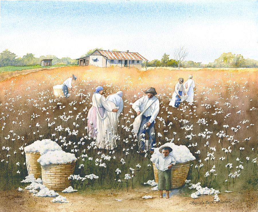 Cotton Painting - I Wish It Were Snow by Brenda Beck Fisher