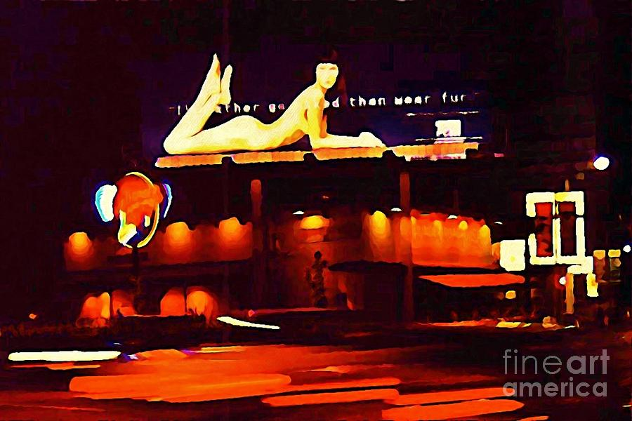 Nude Digital Art - I Would Rather Go Naked Than Wear Fur Billboard by Johnn Malone