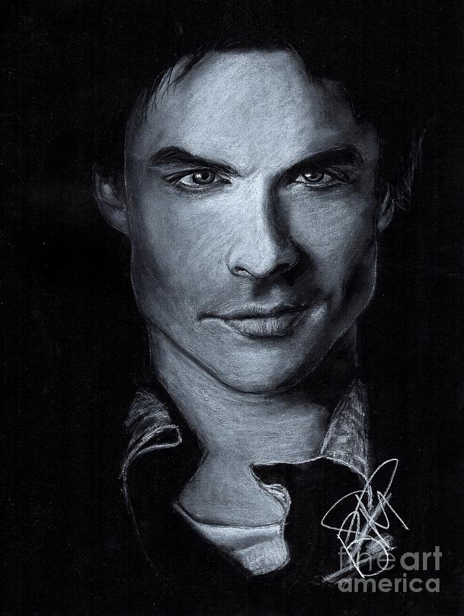 Ian Somerhalder Drawing - Ian Somerhalder by Rosalinda Markle