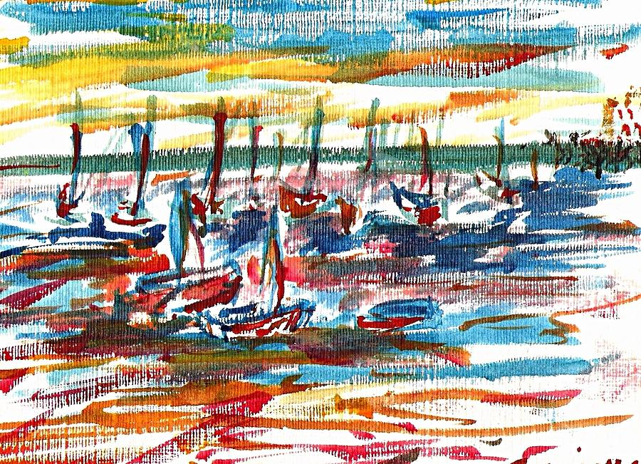 Ibiza Painting - Ibiza Seas by Anthony Fox