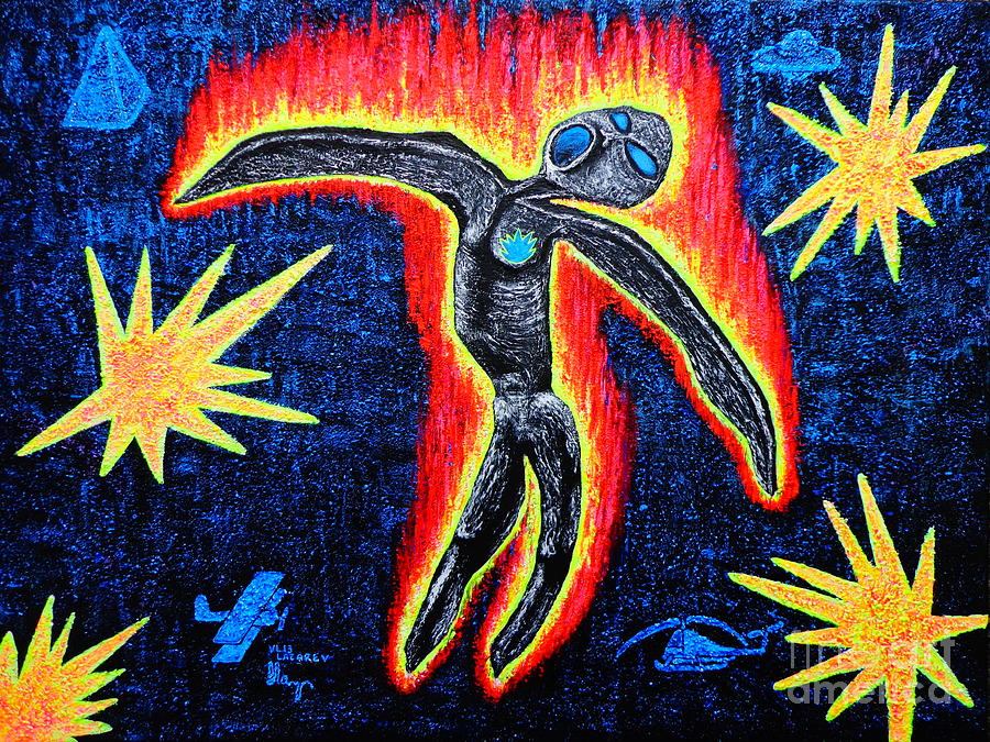 Icarus Painting by Patti Lane   Icarus Paintings Involving
