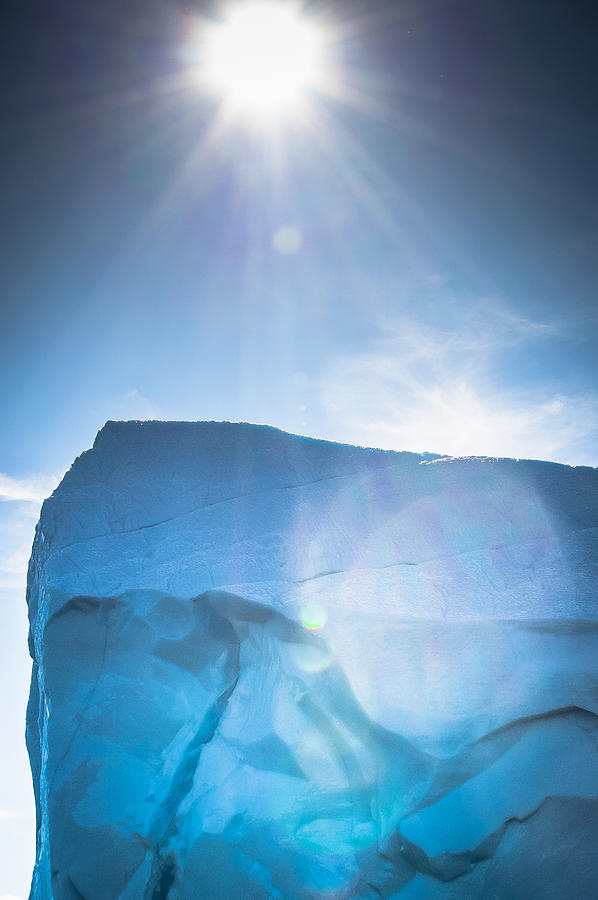 Iceberg Photograph - Ice And Sun by David Pinsent