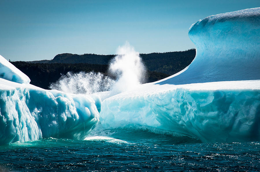 Iceberg Photograph - Ice And Surf by David Pinsent