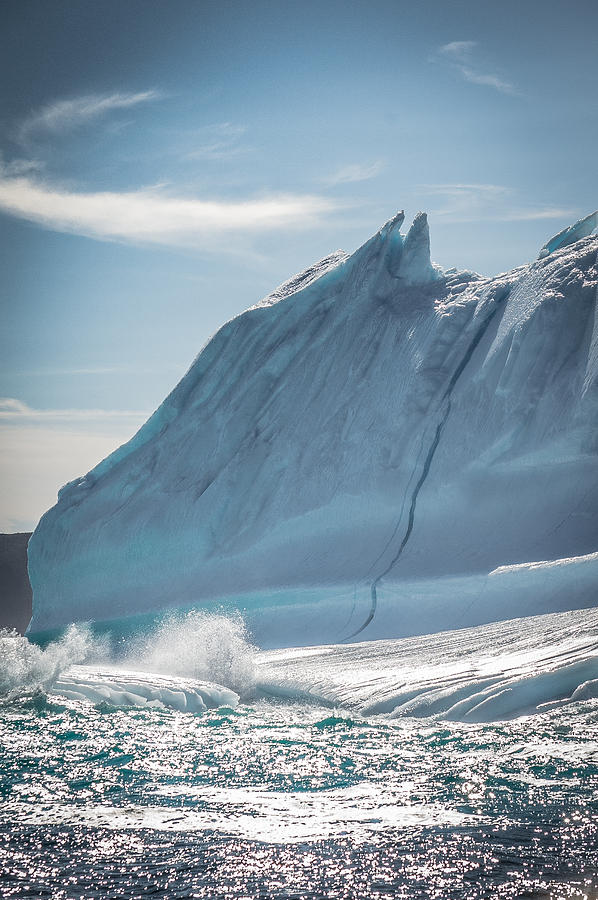 Iceberg Photograph - Ice And Surf IIi by David Pinsent