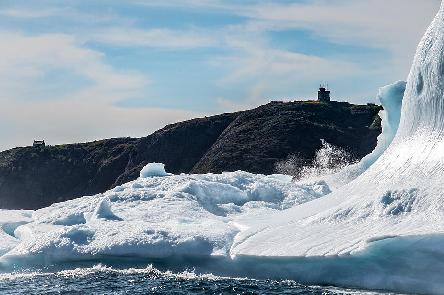 Iceberg Photograph - Ice And Surf Iv by David Pinsent
