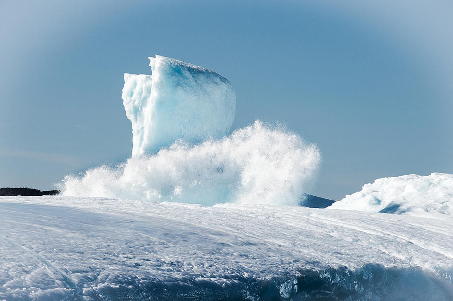 Iceberg Photograph - Ice And Surf V by David Pinsent