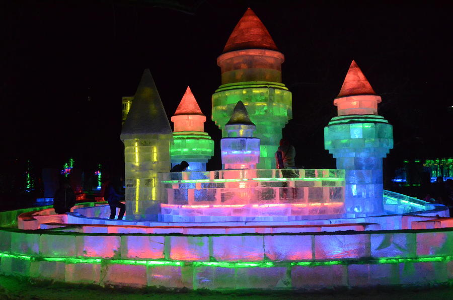 2013 Harbin Ice And Snow Festival Photograph - Ice Castle by Brett Geyer