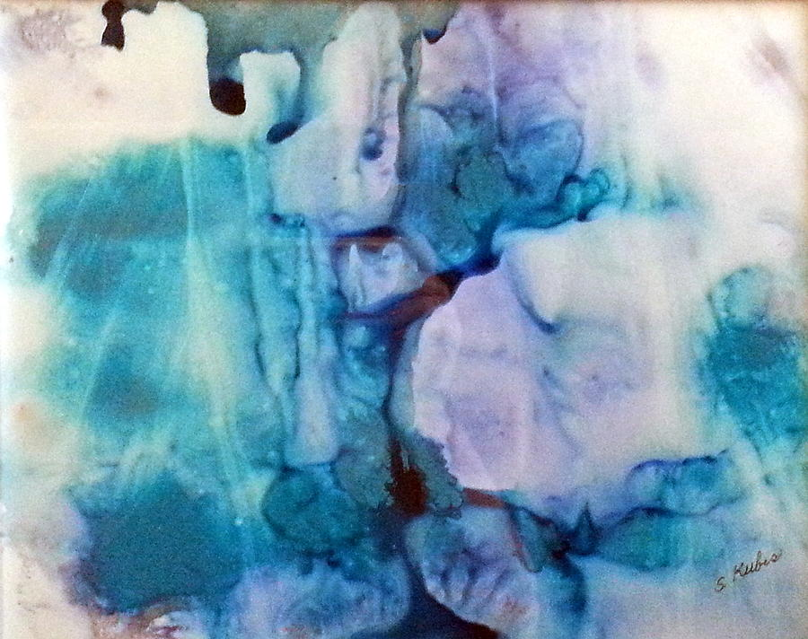 Ice Painting - Ice Castles by Susan Kubes
