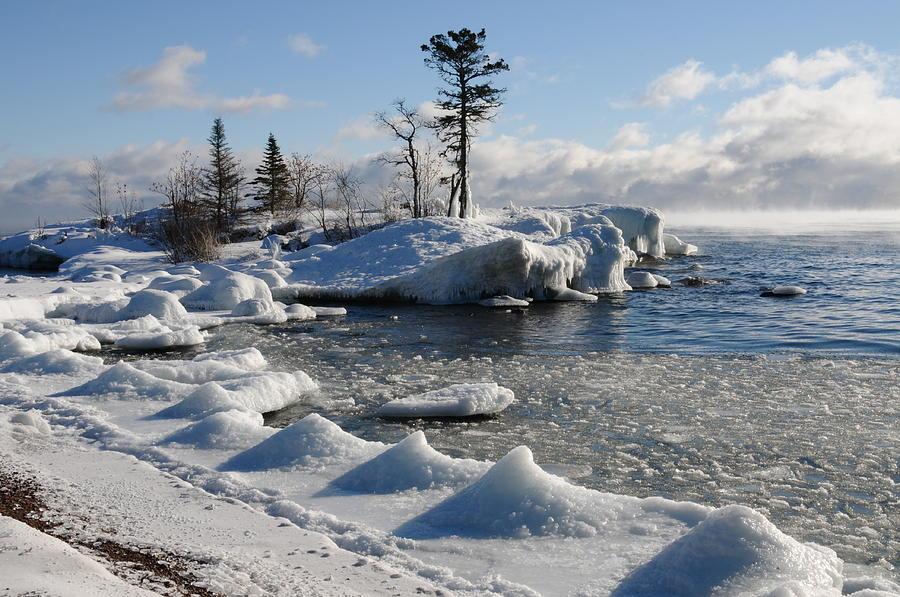 Lake Superior Photograph - Ice Cold by Sandra Updyke