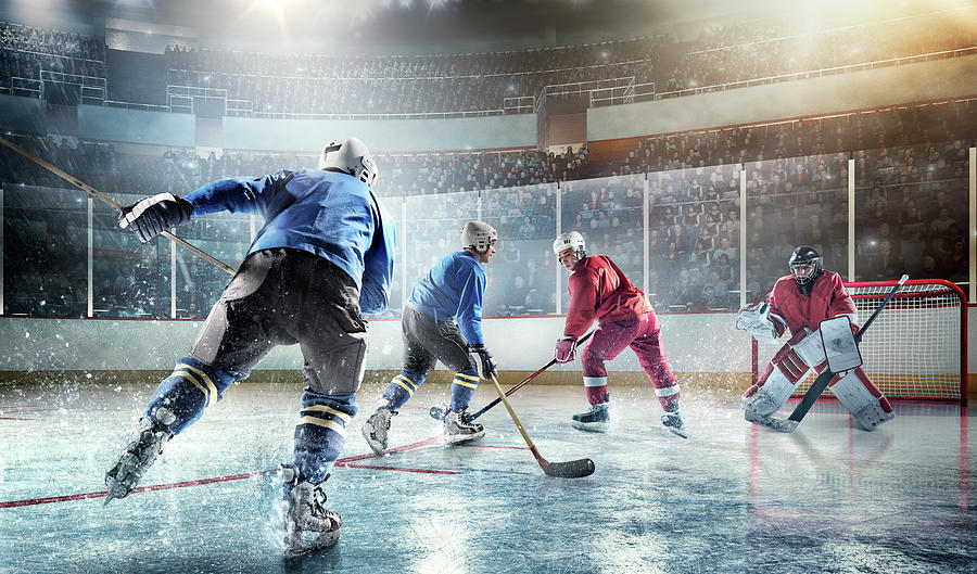 Ice Hockey Players In Action Photograph by Dmytro Aksonov
