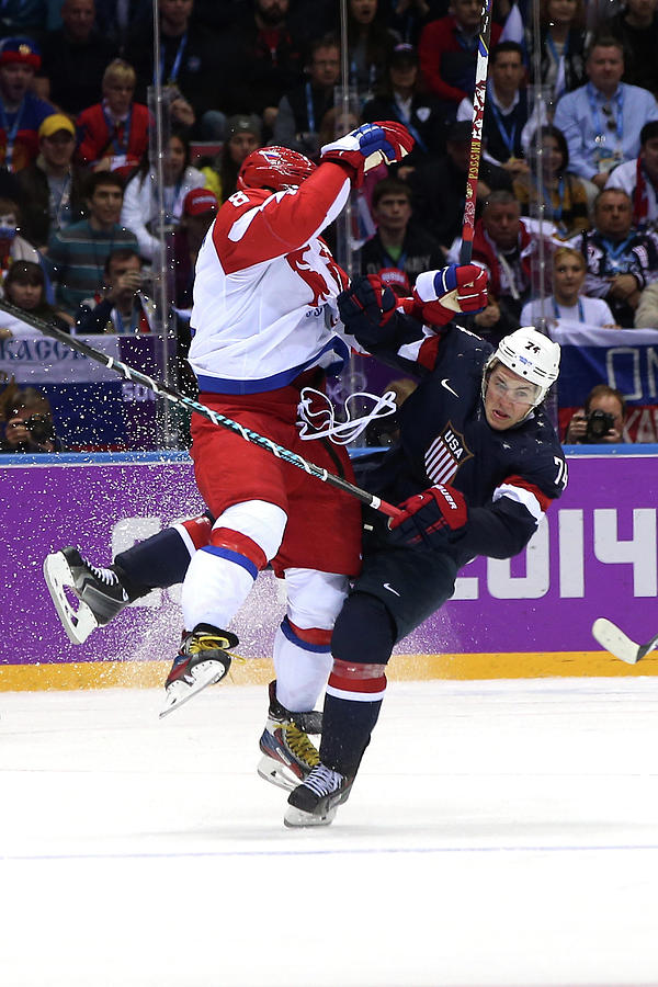 Ice Hockey - Winter Olympics Day 8 - Photograph by Bruce Bennett