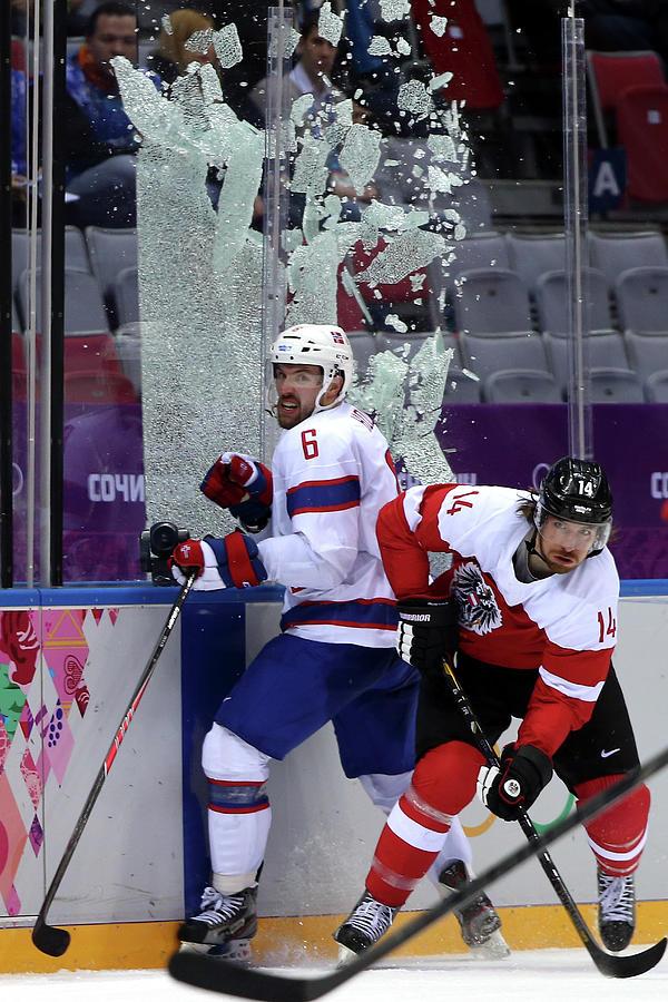 Ice Hockey - Winter Olympics Day 9 - Photograph by Bruce Bennett