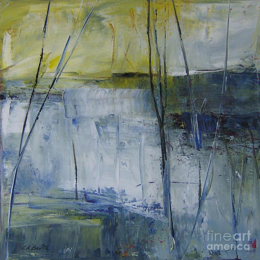 Square Painting - Sold - Ice I I by Carolyn Barth