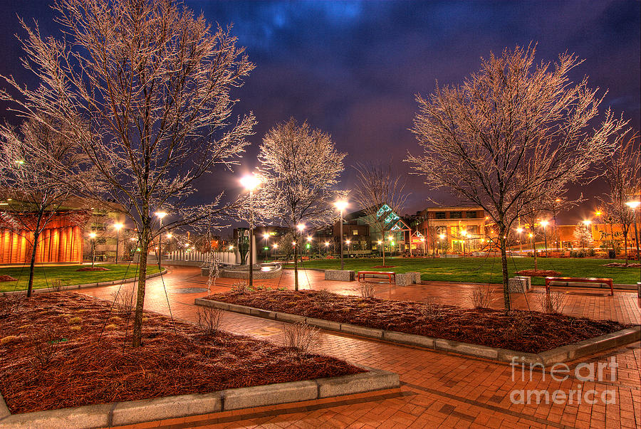 Greensboro Photograph - Ice In The Park - Greensboro by Dan Carmichael