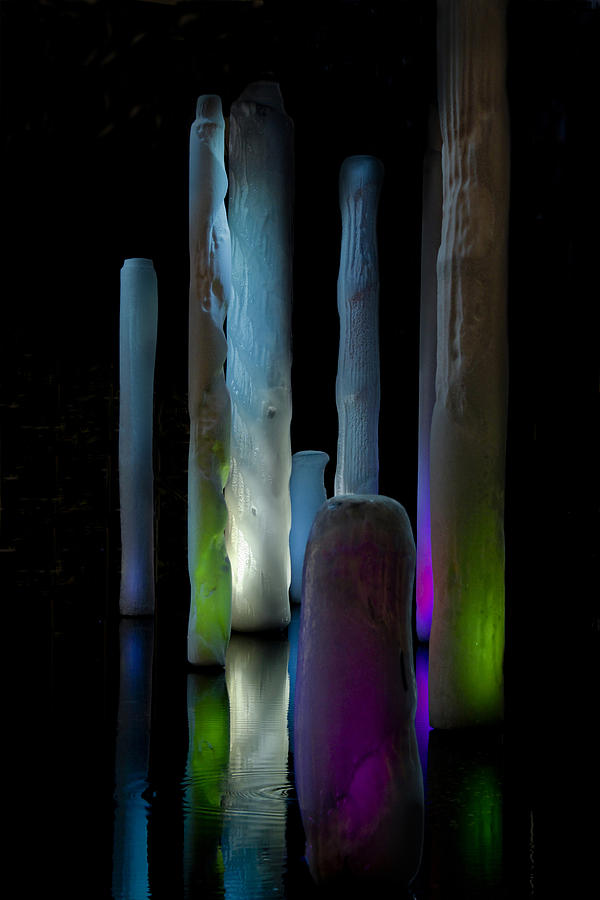 Abstract Photograph - Ice Lighted by Ivete Basso Photography