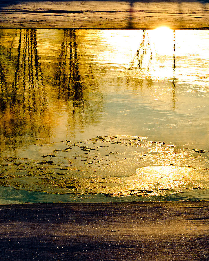 Abstract Photograph - Ice On The River by Bob Orsillo