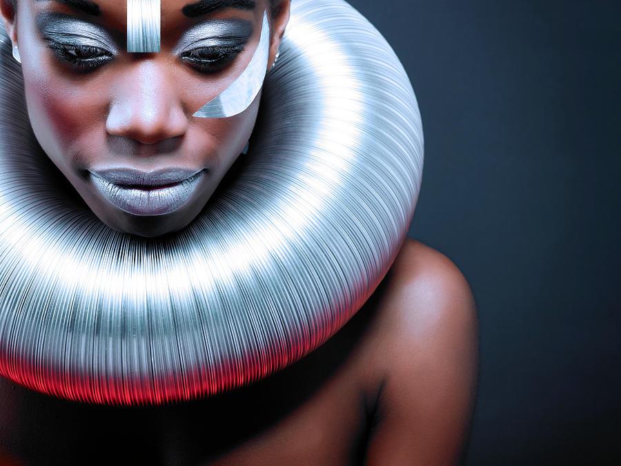Portrait Photograph - Ice Queen by Simone Conti
