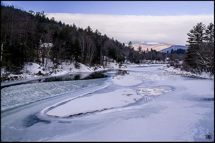 River Photograph - Ice River by Christine Nunes