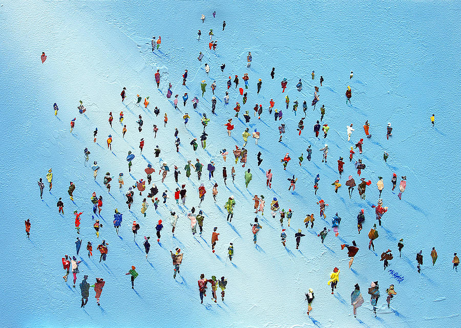 Paint Painting - Ice Walking by Neil McBride