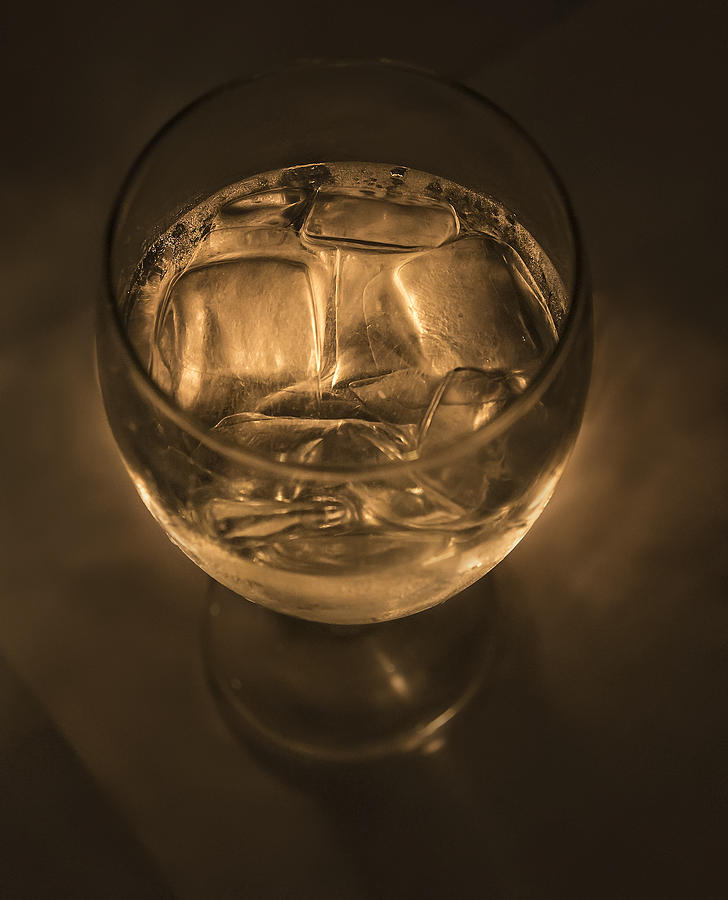 Ice Pyrography - Ice Water By Candle Light by Angela A Stanton
