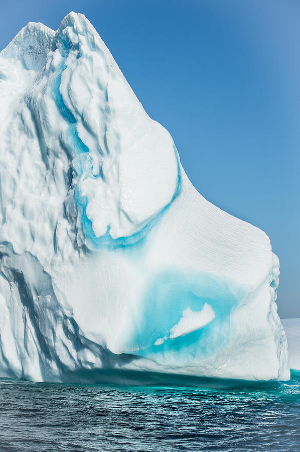 Iceberg Photograph - Ice Xxx by David Pinsent