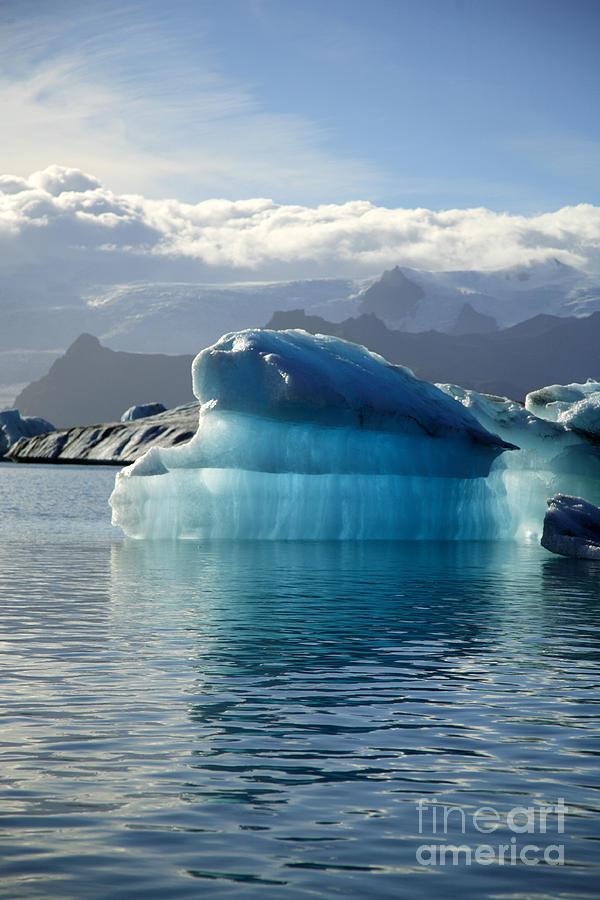 Afloat Photograph - Iceberg by Deborah Benbrook