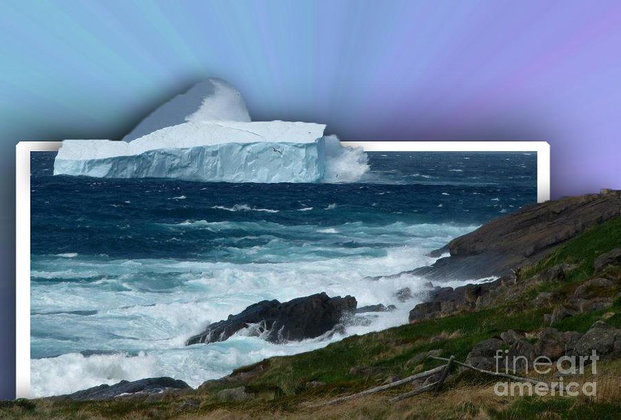 Oob Iceberg Photograph - Iceberg Escape by Barbara Griffin