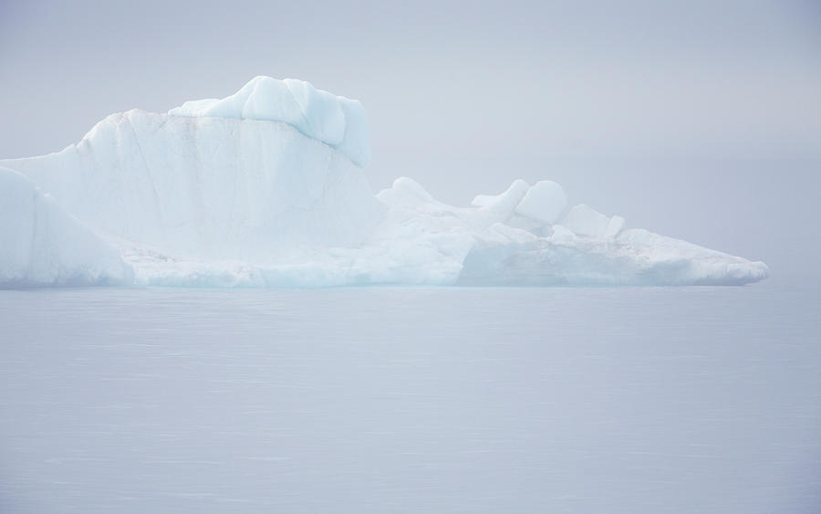 Iceberg In The Mist In The Arctic Digital Art by Anna Henly