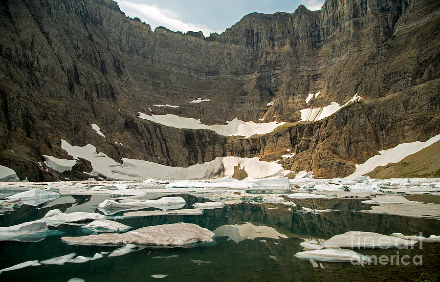 Lake Photograph - Iceberg Lake by Natural Focal Point Photography