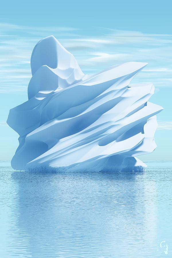 Iceberg Digital Art - Iceberg by Matt Lindley