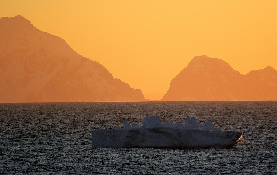 Ice Photograph - Iceberg Ship by DerekTXFactor Creative