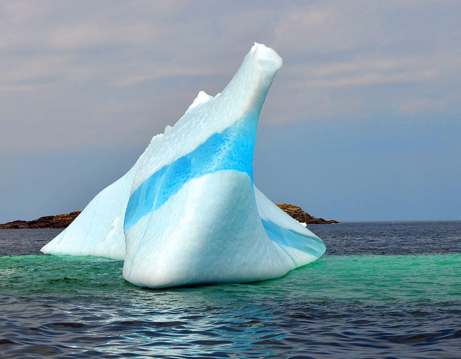 Iceberg Up Close off Newfoundland by Lisa Phillips