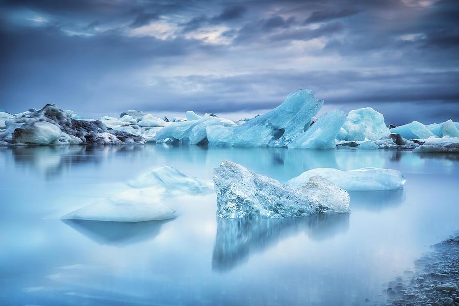 Icebergs In Jokulsarlon Lagoon Photograph by Sandro Bisaro