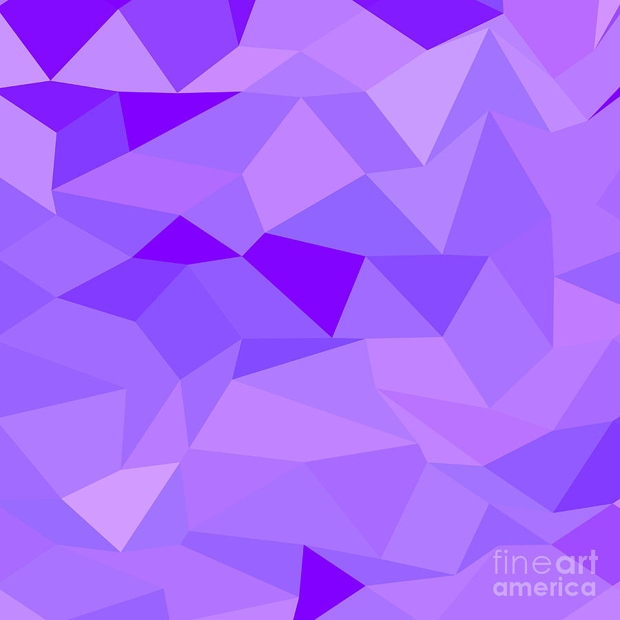 Purple Polygonal Abstract Background: Icebergs Purple Abstract Low Polygon Background Digital