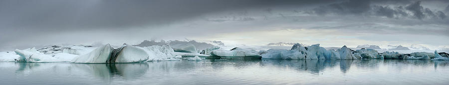 Icebergs Wide Panorama Photograph by Sjo
