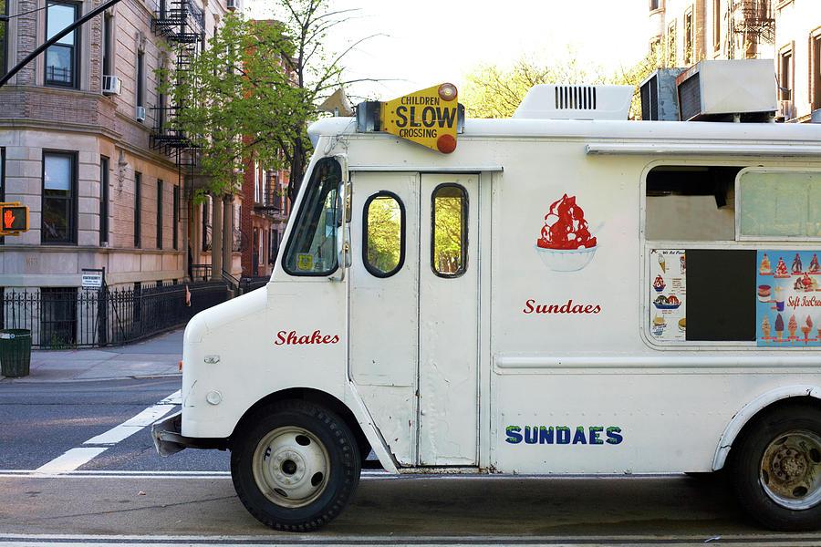 Icecream Truck On City Street Photograph by Jason Todd