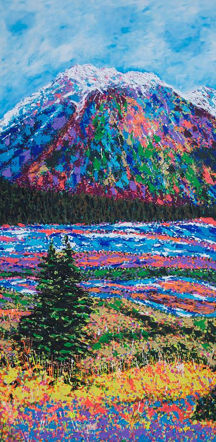 Mountain Painting - Icefields Alberta Mountain by Joyce Sherwin