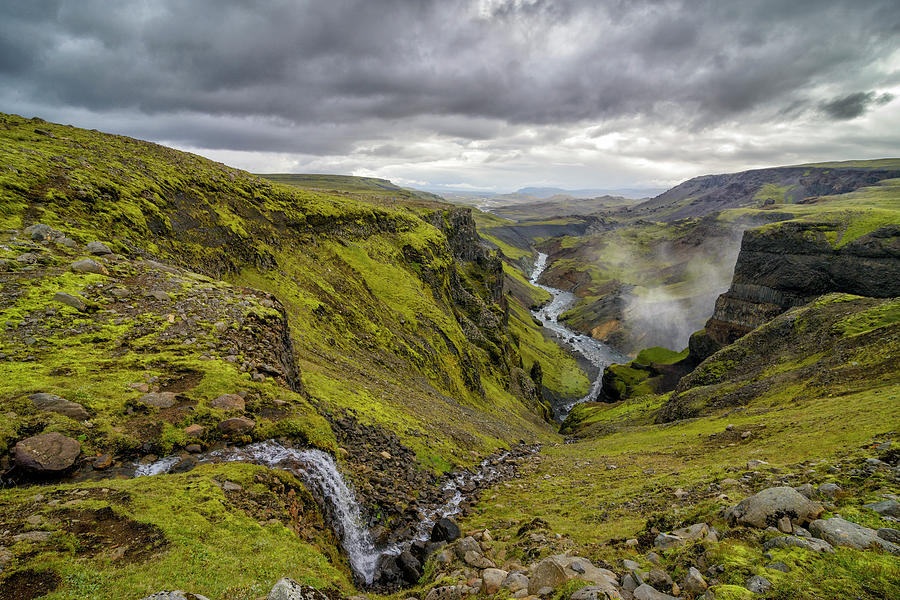 Iceland Canyon With The Fossa River Photograph by Sjo