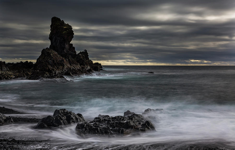 Cloudy Photograph - Iceland, Dritvik by Jaynes Gallery