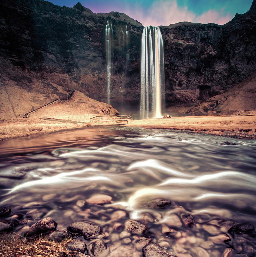 Iceland Remembered - Seljalandsfoss Photograph by Steve Fleming