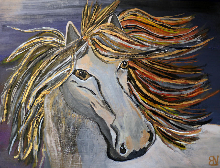 Horse Painting - Icelandic Horse by Becki Nation