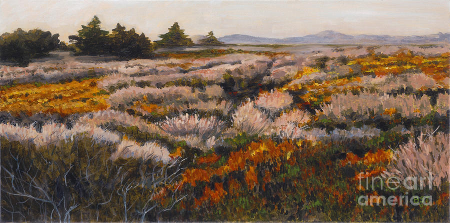 Landscape Painting - Iceplant And Chaparral by Betsee  Talavera
