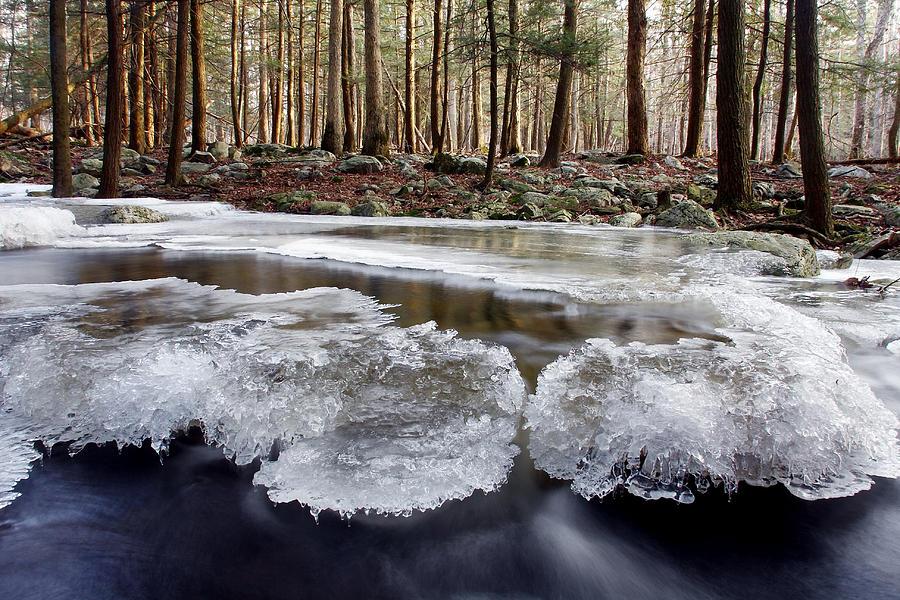 Color Photograph - Icescape by Dawn J Benko
