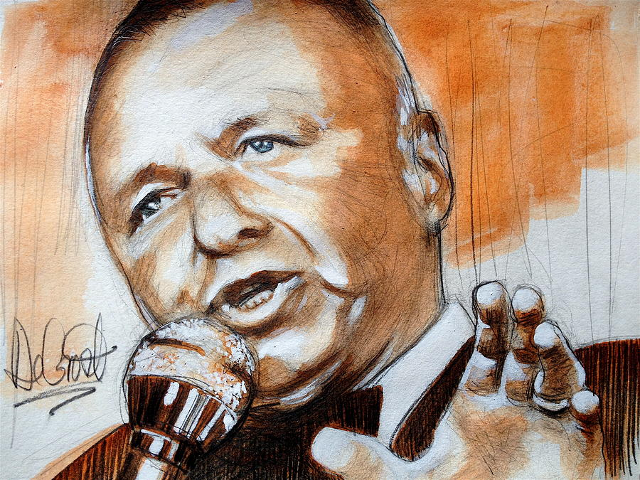 Sinatra Painting - Icon Frank Sinatra by Gregory DeGroat