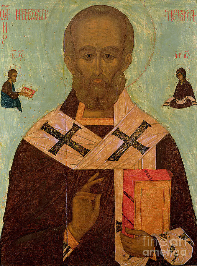 Saint Painting - Icon Of St. Nicholas by Russian School