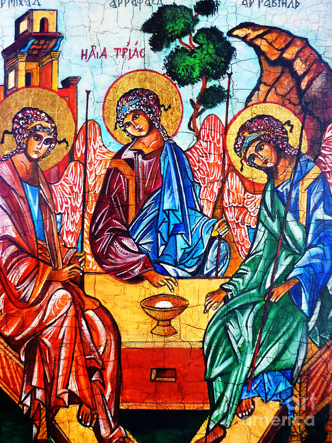 Icon Of The Holy Trinity Painting