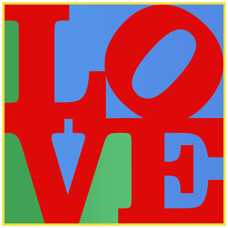 Wright Digital Art - Iconic Love by Paulette B Wright