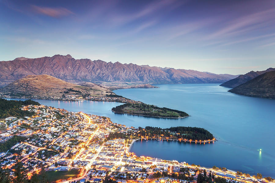 Iconic Queenstown Cityscape At Dusk Photograph by Matteo Colombo